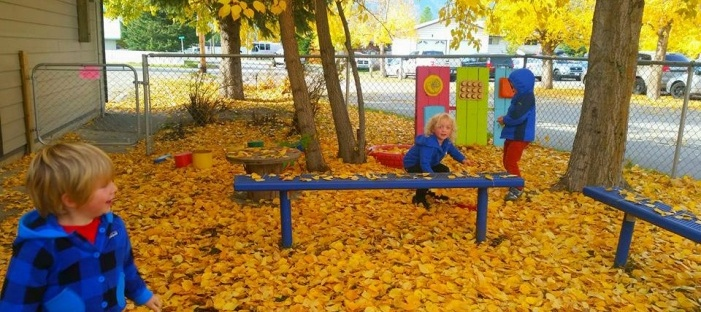 Bright Beginnings Outdoor Play Area - Autumn has arrived