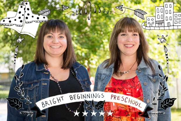 Bright Beginnings Preschool teachers - Jenna and Stacey