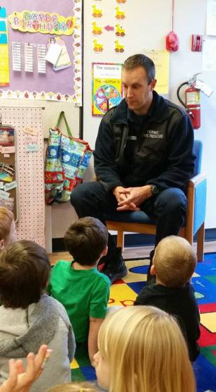 Fireman Bruce - Fernie Fire Department at Bright Beginnings Preschool