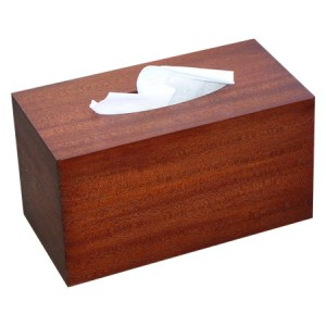 box of kleenex - wood cover