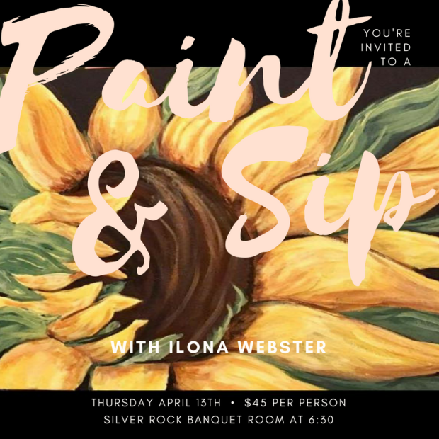 Paint & Sip Fundraising Evening with Ilona Webster in Fernie BC