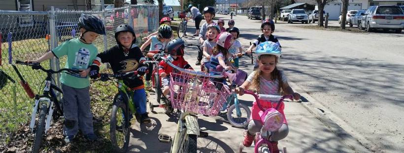 Get outside - biking at preschool - bike days