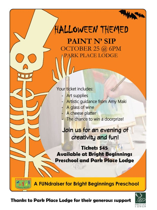 Halloween Paint and Sip Fundraiser
