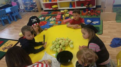 Pirate Day at preschool - apple sauce day