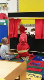 Puppet show at preschool