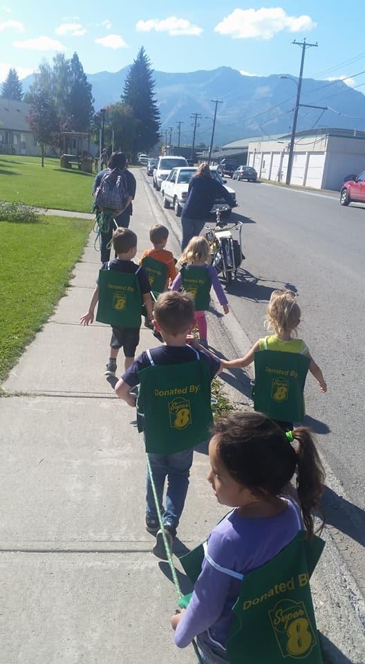 Fernie Preschool - walking in our community