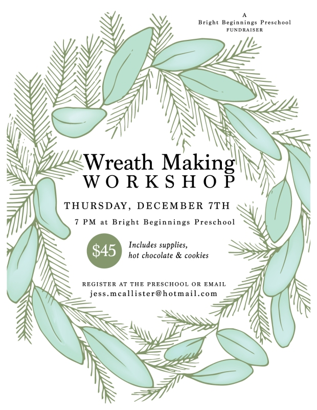 Bright Beginnings Fundraiser - Wreath Making with Jessie McAllister