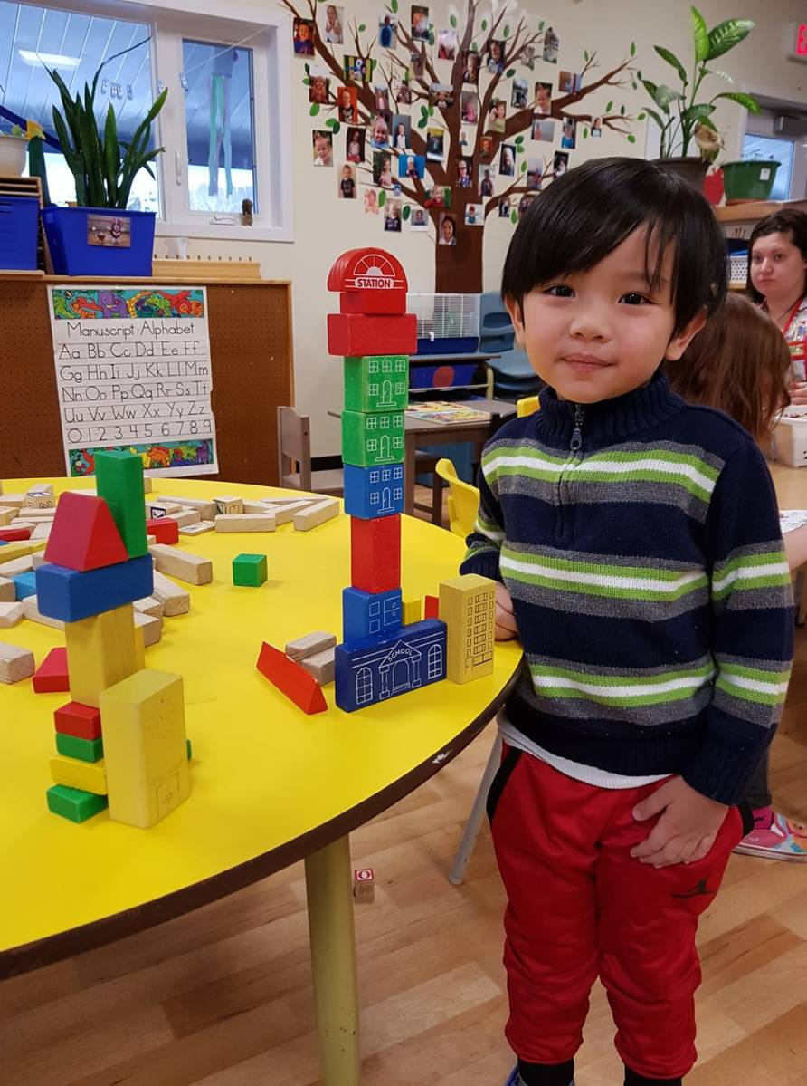 Bright Beginnings Preschool Fernie BC - Play, Building, Teamwork, Outdoor Play, Sledding, Fernie Ghostriders, Seniors Visits